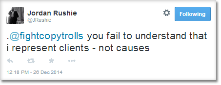 .@fightcopytrolls you fail to understand that i represent clients - not causes